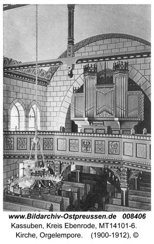 Kassuben, Kirche, Orgelempore