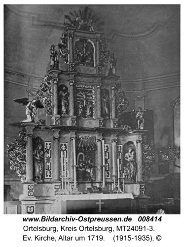 Ortelsburg, Ev. Kirche, Altar um 1719