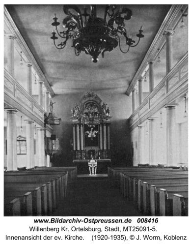 Willenberg, Innenansicht der ev. Kirche