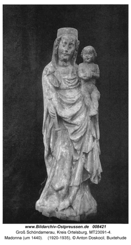 Groß Schöndamerau, Madonna (um 1440)