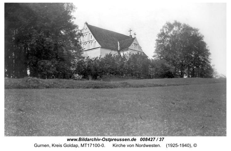 Gurnen, Kirche von Nordwesten