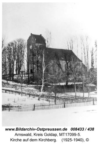 Arnswald (fr. Grabowen), Kirche auf dem Kirchberg
