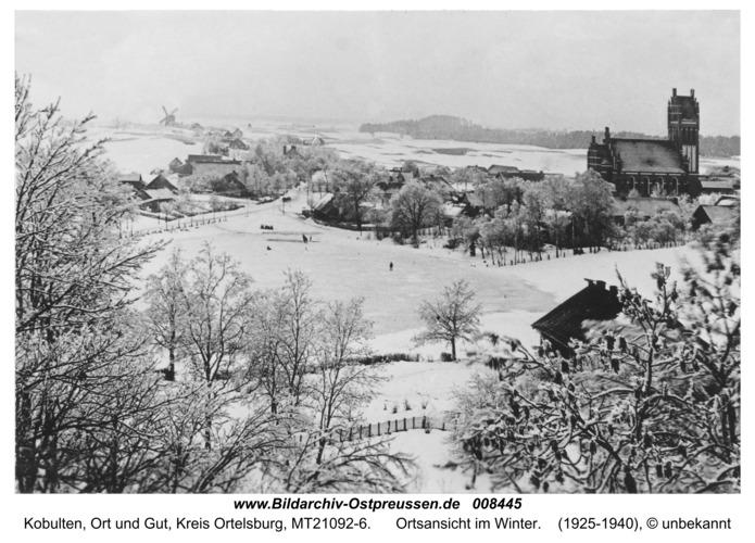 Kobulten, Dorfansicht im Winter
