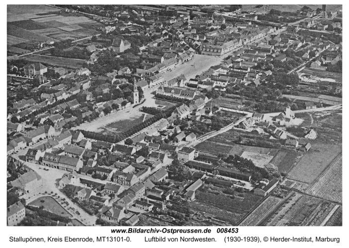Ebenrode, Luftbild von Nordwesten