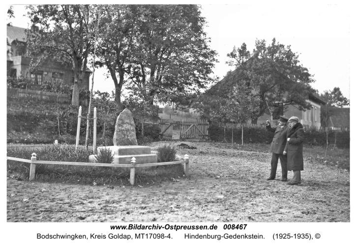 Herandstal, Hindenburg-Gedenkstein