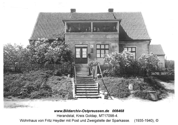 Herandstal, Wohnhaus von Fritz Heydler mit Post und Zweigstelle der Sparkasse