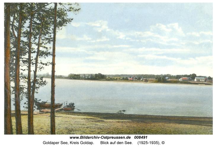 Goldaper See, Blick auf den See