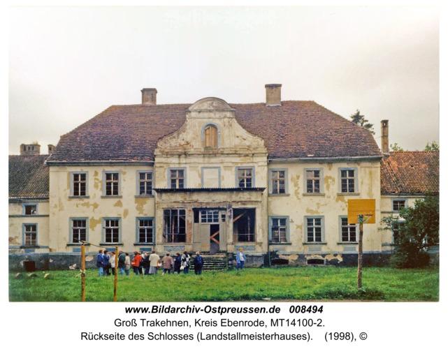 Groß Trakehnen, Rückseite des Schlosses (Landstallmeisterhauses)