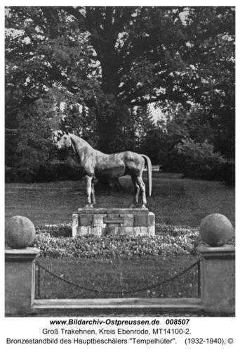 """Groß Trakehnen, Bronzestandbild des Hauptbeschälers """"Tempelhüter"""""""