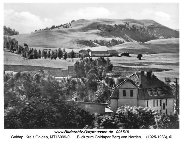 Goldap, Blick zum Goldaper Berg von Norden