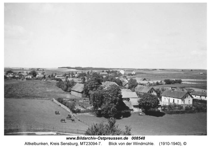 Altkelbunken, Blick von der Windmühle
