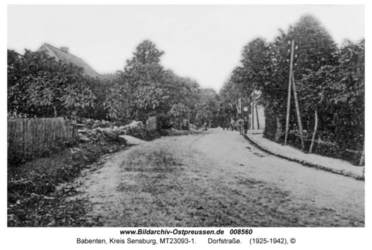Babenten, Dorfstraße