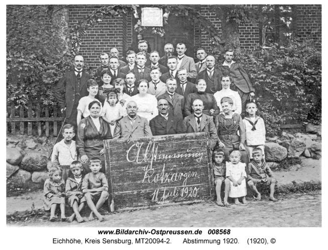 Eichhöhe, Abstimmung 1920