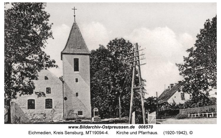 Eichmedien, Kirche und Pfarrhaus