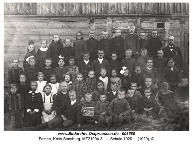Fasten, Schule 1920