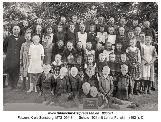 Fasten, Schule 1921 mit Lehrer Purwin