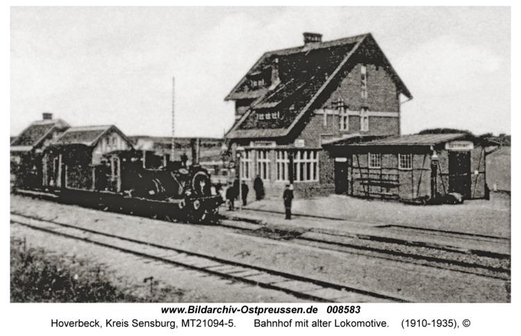 Hoverbeck, Bahnhof mit alter Lokomotive