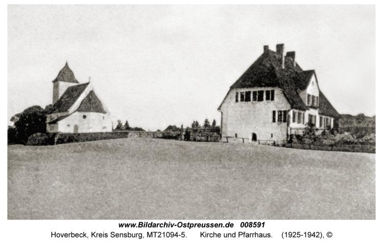 Hoverbeck, Kirche und Pfarrhaus