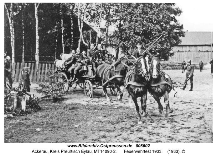 Ackerau, Feuerwehrfest 1933