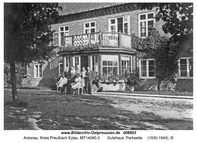 Ackerau, Gutshaus, Parkseite