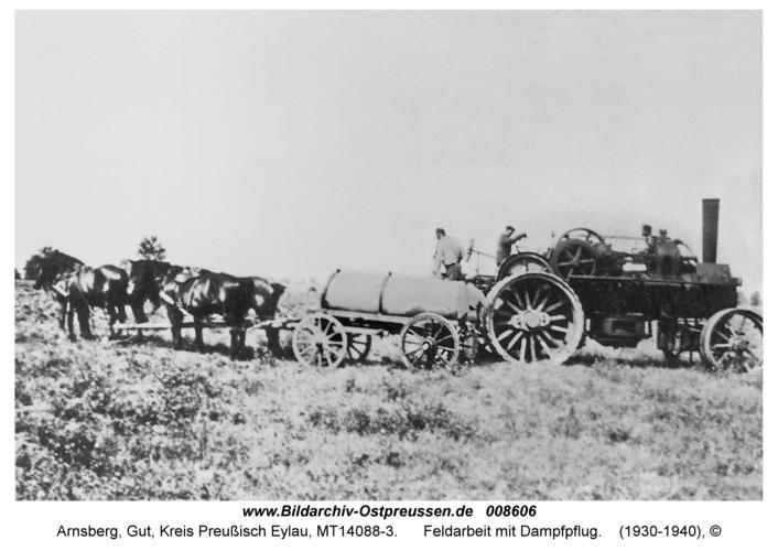 Arnsberg, Feldarbeit mit Dampfpflug