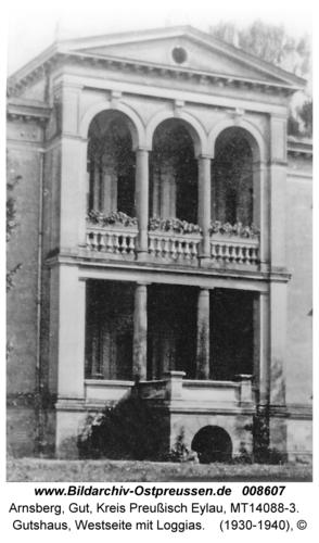 Arnsberg, Gutshaus, Westseite mit Loggias