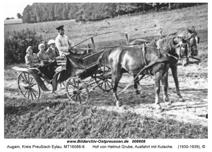 Augam, Hof von Helmut Grube, Ausfahrt mit Kutsche