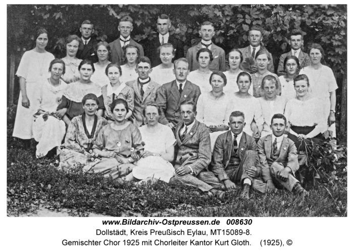Dollstädt, Gemischter Chor 1925 mit Chorleiter Kantor Kurt Gloth