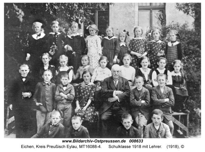 Eichen, Schulklasse 1918 mit Lehrer