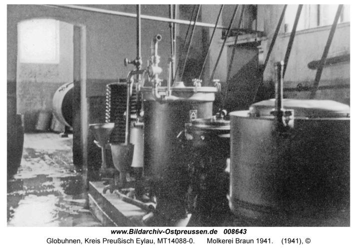 Globuhnen, Molkerei Braun 1941