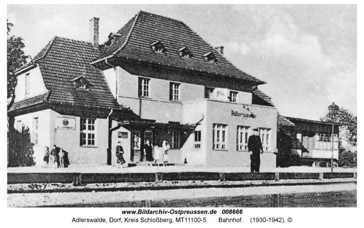 Adlerswalde, Bahnhof