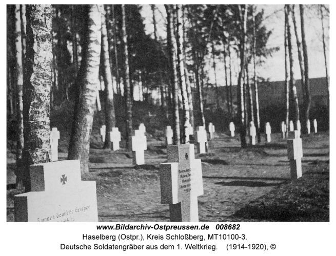 Haselberg, Deutsche Soldatengräber aus dem 1. Weltkrieg