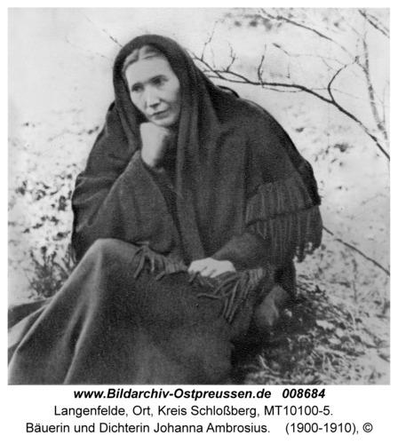 Langenfelde, Bäuerin und Dichterin Johanna Ambrosius