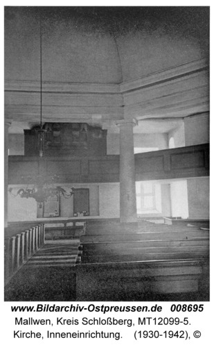 Mallwen, Kirche, Inneneinrichtung