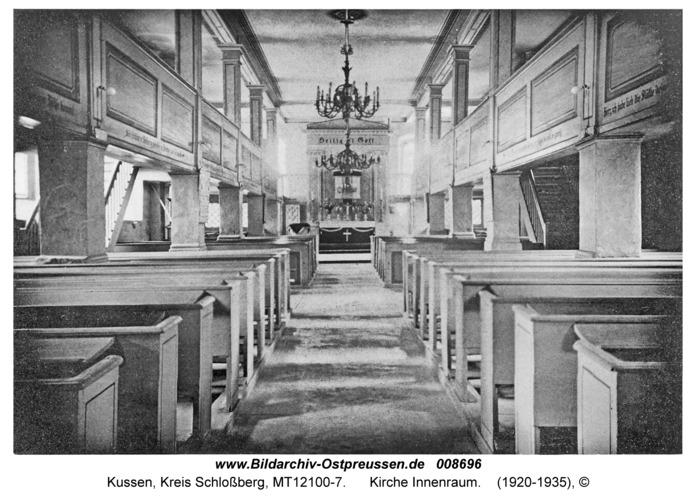 Kussen, Kirche Innenraum
