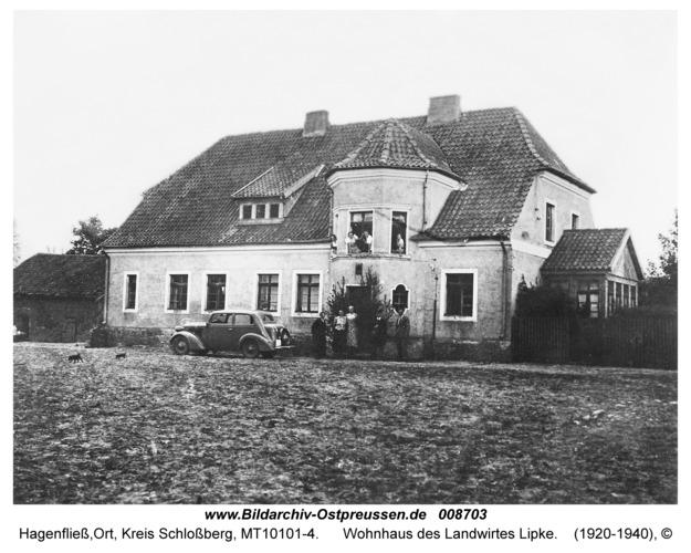 Hagenfließ, Wohnhaus des Landwirtes Lipke