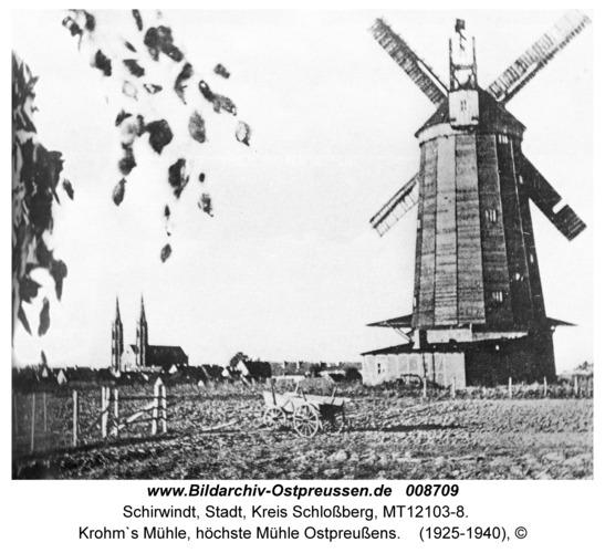 Schirwindt, Krohm`s Mühle, höchste Mühle Ostpreußens