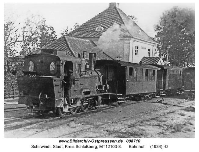 Schirwindt, Bahnhof