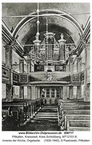 Schloßberg, Inneres der Kirche, Orgelseite