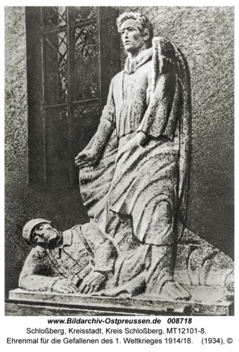 Schloßberg, Ehrenmal für die Gefallenen des 1. Weltkrieges 1914/18