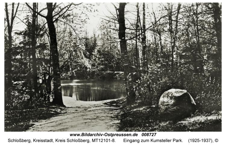 Schloßberg, Eingang zum Kumsteller Park