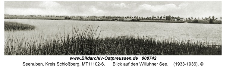 Seehuben, Blick auf den Willuhner See