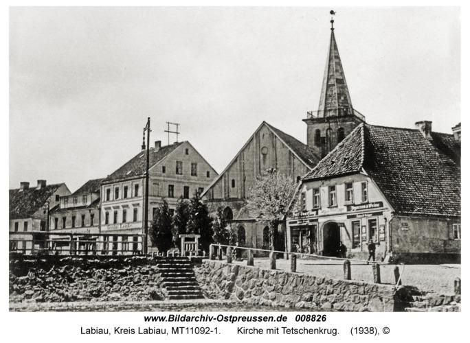 Labiau, Kirche mit Tetschenkrug