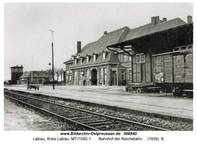 Labiau, Bahnhof der Reichsbahn