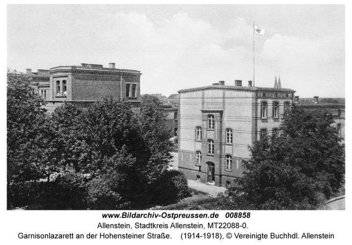 Allenstein, Garnisonlazarett an der Hohensteiner Straße