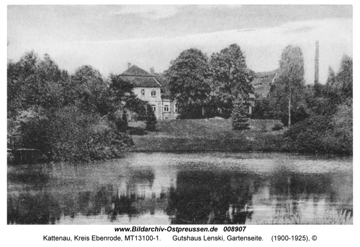 Kattenau, Gutshaus von Lenski, Gartenseite