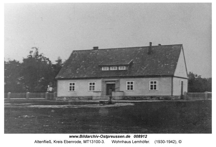 Altenfließ, Wohnhaus Lemhöfer