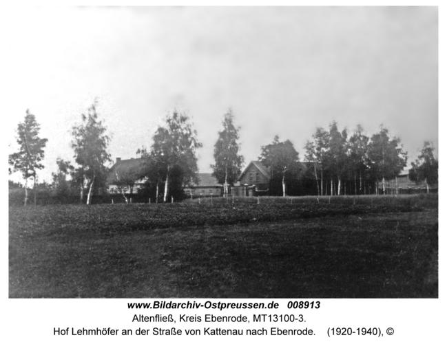 Altenfließ, Hof Lehmhöfer an der Straße von Kattenau nach Ebenrode