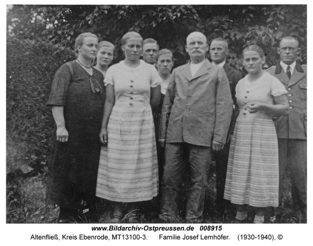 Altenfließ, Familie Josef Lemhöfer