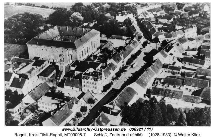 Ragnit, Schloß, Zentrum (Luftbild)